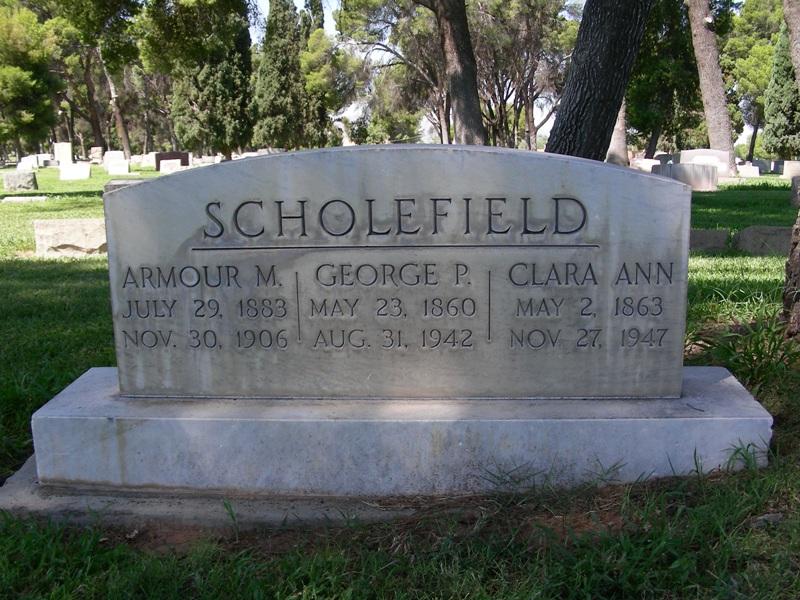 Scholefield grave marker